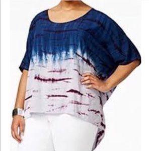 Nanette Lepore Tye Dye Dolman Sleeve Blouse Top
